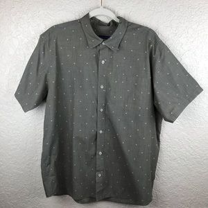 Patagonia short sleeve button front shirt sz L